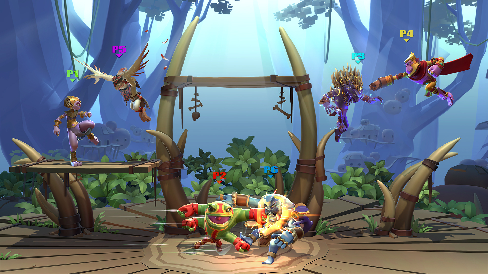An example of a fight in Brawlout